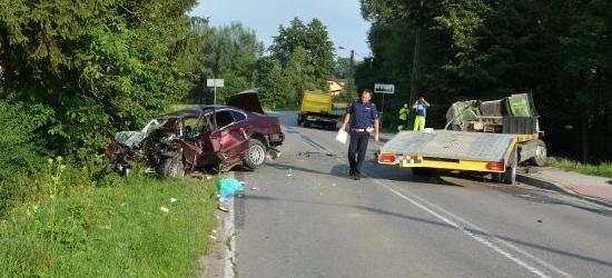 Tragiczny wypadek w Hyżnem. Nie żyje kierowca bmw (ZDJĘCIA)