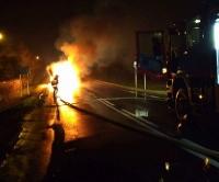 GLINNE: Samochód zaczął płonąć podczas jazdy. Dzięki zdecydowanej postawie innego kierowcy nie doszło do tragedii