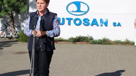 BEATA SZYDŁO W SANOKU: Autosan zasługuje na wsparcie. W polskie firmy trzeba inwestować, nie je sprzedawać (FILM, ZDJĘCIA)