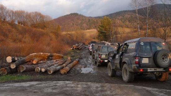 Rajdy terenówek w lasach bieszczadzkich (ZDJĘCIA)