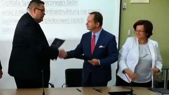 10 mln zł dla jasielskiego szpitala. Zostanie rozbudowany blok operacyjny (FILM)