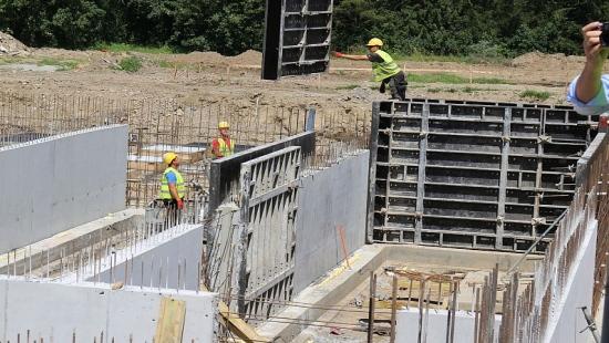 BASEN SANOK: Raport z placu budowy (FILM, ZDJĘCIA)
