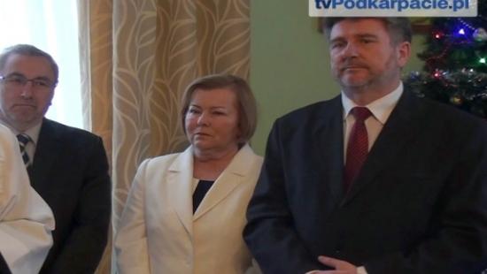"""Spotkanie opłatkowe PiS w Brzozowie. """"Razem możemy pokonać wszystkie polskie problemy"""" (FILM)"""
