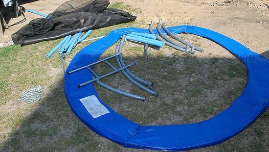 Łupem złodziei padła… dziecięca trampolina