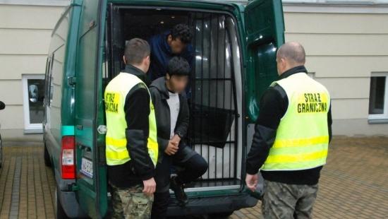 Afgańczycy ukryli się w ciężarówce. Interweniowali pogranicznicy, funkcjonariusze KAS i policja. Samochód miał nienaruszone plomby celne (ZDJĘCIA)