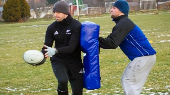 """""""My się zimy nie boimy"""". W niedzielę kolejny trening sanockiej sekcji rugby (ZDJĘCIA)"""