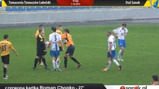 Zobacz kontrowersje w meczu Tomasovia – Stal (VIDEO HD)