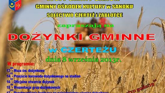 Dożynki gminy Sanok w Czerteżu już w najbliższą niedzielę!