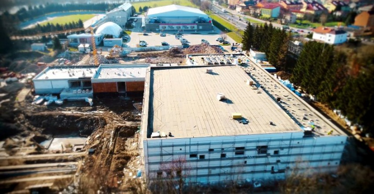 SANOK: Najnowszy film z placu budowy basenów. Pierwsze ujęcia z wnętrza (VIDEO)