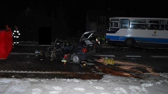 Śmiertelny wypadek w Połomii (ZDJĘCIA)