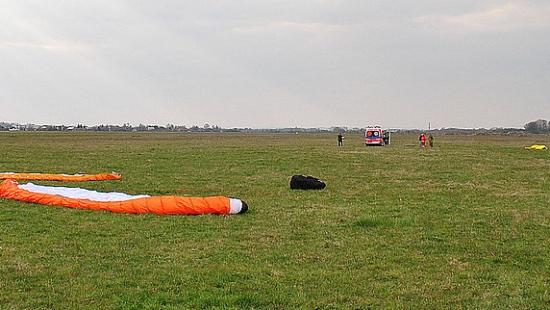 Wypadek na lotnisku w Targowiskach. Nie żyje 36-letni pilot