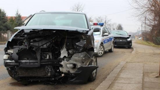 Wypadek na ul. Przemyskiej w Sanoku. Dwie osoby ranne (ZDJĘCIA)