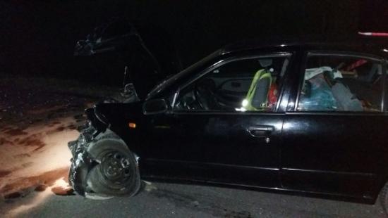 Wypadek w Średniej Wsi. Dwie osoby ranne
