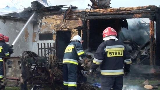 SANOK: Pożar domu na Białej Górze (FILM)