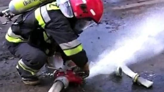 Pożar poddasza w domu jednorodzinnym