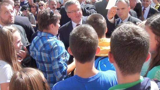 Prezydent Bronisław Komorowski odwiedził Sanok! (FILM)