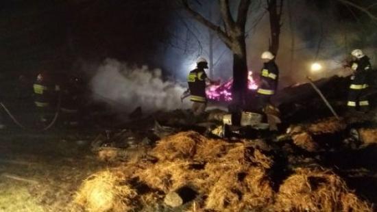 Brzozów24.pl : Spłonęło 7 wiat, drobny sprzęt gospodarczy oraz trzy kozy (ZDJĘCIA)