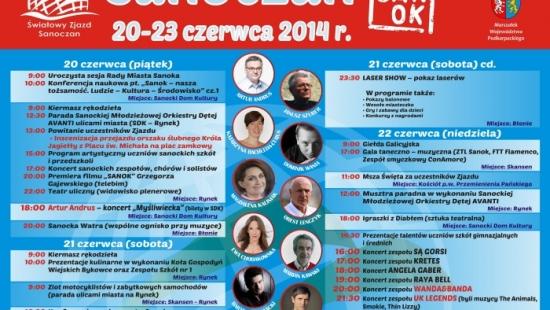 20-23 CZERWCA: Światowy Zjazd Sanoczan! Zobacz szczegółowy program