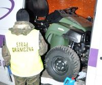 GRANICA: Polscy pogranicznicy udaremnili wywóz skradzionego w Wielkiej Brytanii quada (ZDJĘCIA)