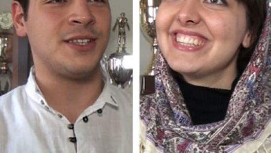 Uśmiechnięta Mahsa z Iranu i tańczący Namik z Azerbejdżanu podbili serca uczniów II LO (FILM)