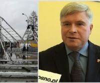 KROSNO: Ogromny namiot nad lodowiskiem przy Bursaki. Będzie również ślizgawka na Rynku (FILM, ZDJĘCIA)