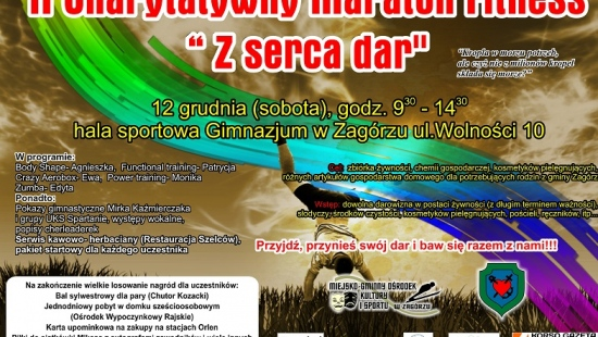 NASZ PATRONAT: II Charytatywny Maraton Fitnessu w Zagórzu
