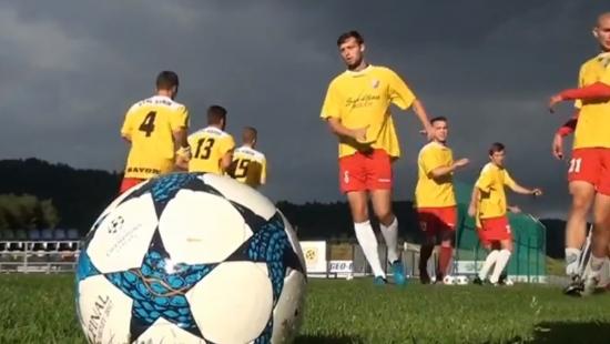 """STAL SANOK: Piłkarze ostro trenują przed startem IV ligi. """"Nie chcemy być chłopcami do bicia"""" (FILM)"""