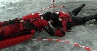 Akcja ratunkowa pod lodem sanockich strażaków (FILM, ZDJĘCIA)